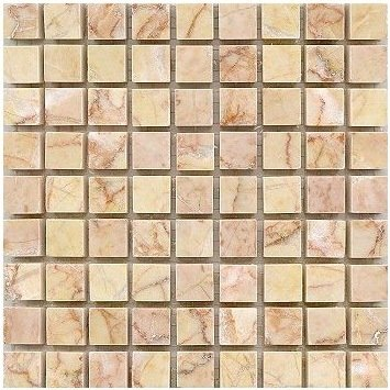 Loose Polished Giallo Reale Marble Mosaic Tesserae 7mm Thick
