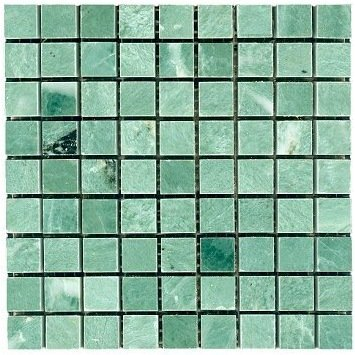 Loose Polished Lushan Green Marble Mosaic Tesserae 7mm Thick