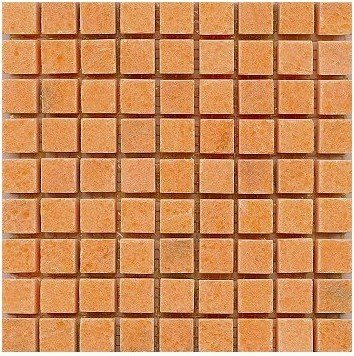Loose Polished Sunglow Marble Mosaic Tesserae 7mm Thick