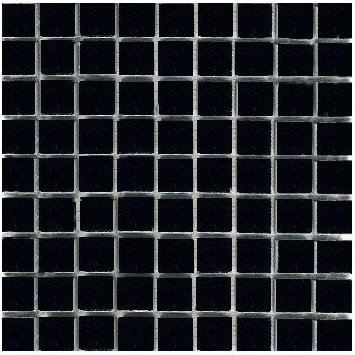 Loose Polished Absolute Black Marble Mosaic Tesserae 7mm Thick