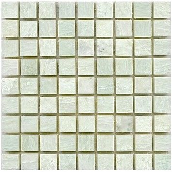 Loose Polished Ming Green Marble Mosaic Tesserae 7mm Thick