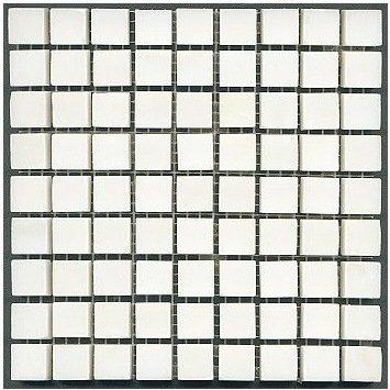 Loose Polished China White Marble Mosaic Tesserae 7mm Thick