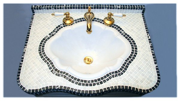 Classic Design Marble Mosaic Vanity Top