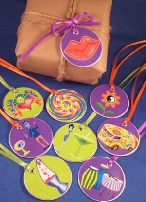 Hippie Fun Gift  & Scrapbooking Tags