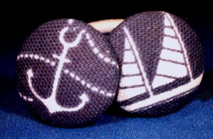 Anchors Aweigh, My Boys Ponytail Holders