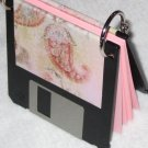 Disc Jotter- Shabby Chic (Recycled Notepad)