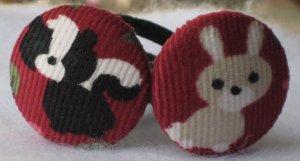 Skunks & Bunnies Ponytail Holders Hair Accessories