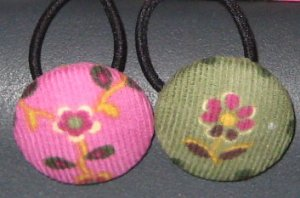 Pink and Green Ponytail Holders Hair Accessories
