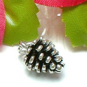 925 STERLING SILVER PINE CONE CHARM / PENDANT
