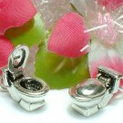925 STERLING SILVER TOILET BOWL (OPEN) CHARM / PENDANT