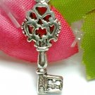 925 STERLING SILVER ANTIQUE KEY CHARM / PENDANT