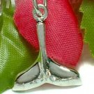 925 STERLING SILVER WHALE TAIL CHARM / PENDANT