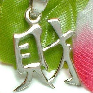 925 STERLING SILVER CHINESE SYMBOL CHARM / PENDANT - WEALTH