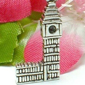925 STERLING SILVER BIG BEN / PARLIAMENT HOUSE CHARM / PENDANT