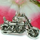 925 STERLING SILVER HARLEY DAVIDSON MOTORCYCLE CHARM / PENDANT