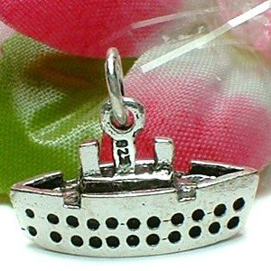 925 STERLING SILVER CRUISE LINER CHARM / PENDANT