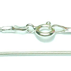 "925 STERLING SILVER 16"" ROUND SNAKE CHAIN NECKLACE"