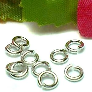 925 STERLING SILVER 3.7MM OPEN JUMP RING X 10 PIECES