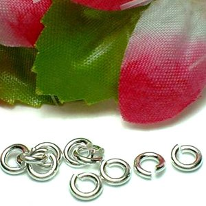 925 STERLING SILVER 4MM OPEN JUMP RING X 10 PIECES