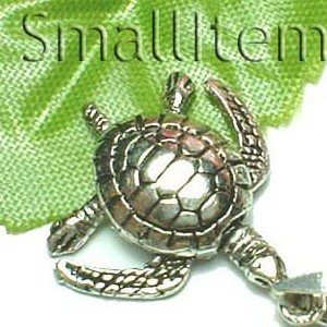925 STERLING SILVER SEA TURTLE (MOVABLE) CHARM / PENDANT