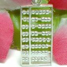 925 STERLING SILVER ABACUS (MOVABLE BEADS) CHARM / PENDANT