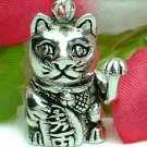 925 STERLING SILVER JAPANESE LUCKY CAT (MOVABLE) CHARM / PENDANT