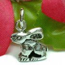 925 STERLING SILVER BUNNY RABBIT CHARM / PENDANT