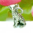 925 STERLING SILVER SITTING LEOPARD CHARM / PENDANT