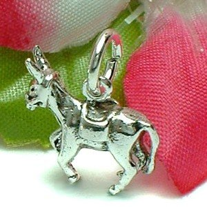 925 STERLING SILVER PACKED MULE CHARM / PENDANT