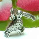 925 STERLING SILVER TOUCAN BIRD CHARM / PENDANT