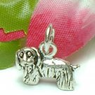 925 STERLING SILVER YORKSHIRE TERRIER DOG CHARM / PENDANT