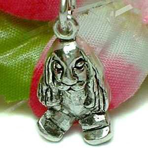 925 STERLING SILVER NEWFOUNDLAND DOG CHARM / PENDANT