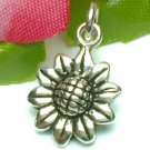 925 STERLING SILVER SUNFLOWER CHARM / PENDANT