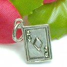 925 STERLING SILVER ACE OF DIAMOND POKER CARD CHARM / PENDANT