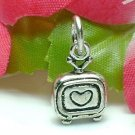 925 STERLING SILVER LOVE TELEVISION TV CHARM / PENDANT