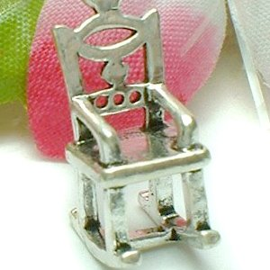 925 STERLING SILVER ROCKING CHAIR CHARM / PENDANT