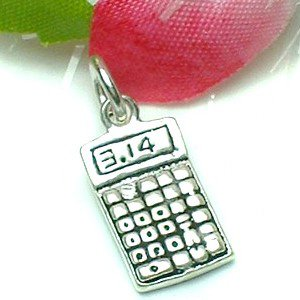 925 STERLING SILVER CALCULATOR CHARM / PENDANT