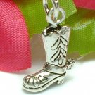 925 STERLING SILVER COWBOY BOOT CHARM / PENDANT