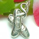 925 STERLING SILVER BALLET SLIPPERS CHARM / PENDANT