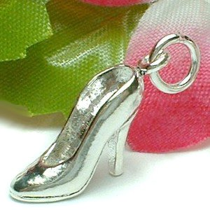925 STERLING SILVER HIGH HEEL SHOE CHARM / PENDANT