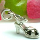 925 STERLING SILVER STRAPPY HIGH HEEL CHARM / PENDANT