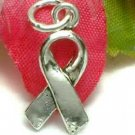 925 STERLING SILVER CANCER AWARENESS RIBBON CHARM / PENDANT