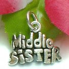 925 STERLING SILVER MIDDLE SISTER CHARM / PENDANT