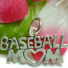 925 STERLING SILVER BASEBALL MOM CHARM / PENDANT