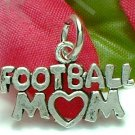 925 STERLING SILVER FOOTBALL MOM CHARM / PENDANT