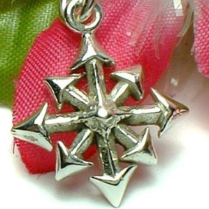 925 STERLING SILVER CHAOS / 8-POINTED STAR CHARM / PENDANT