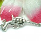 925 STERLING SILVER SIX SHOOTER GUN CHARM / PENDANT