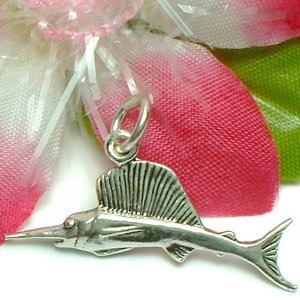 925 STERLING SILVER SAIL FISH CHARM / PENDANT