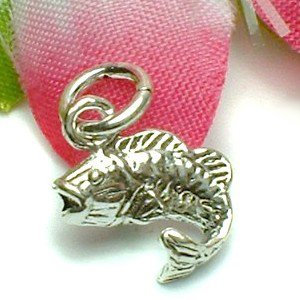 925 STERLING SILVER BASS FISH CHARM / PENDANT
