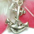 925 STERLING SILVER ANCHOR WITH ROPE CHARM / PENDANT